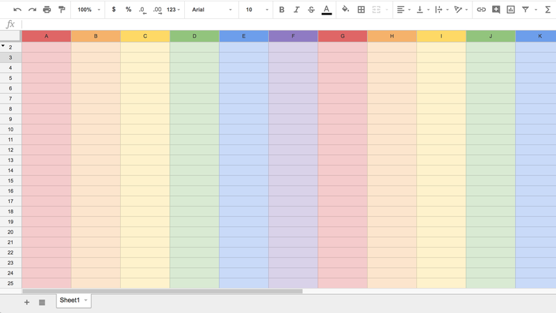 Illustration for article titled How to Get Rainbow-Themed Google Sheets to Celebrate Pride