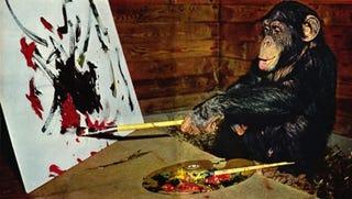 Los cuadros de Pierre Brassau (o cómo un mono le tomó el pelo al mundo del arte)