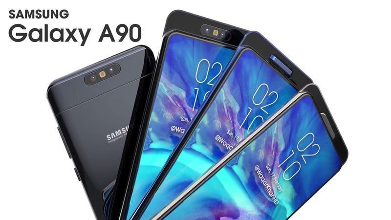 Concepto del Galaxy A90 supuestamente basado en el diseño real del teléfono