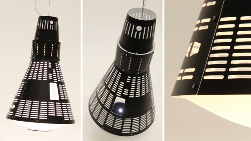 Illustration for article titled This Gorgeous Mercury Spacecraft Lamp Could Orbit Your Dining Table