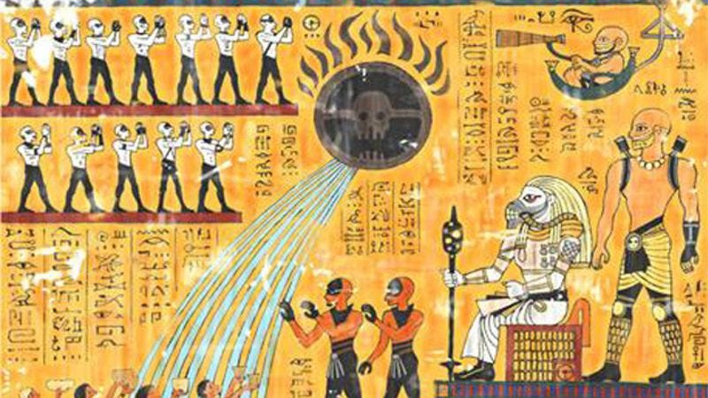 Illustration for article titled Mad Max: Fury Road retold as an ancient Egyptian hieroglyph