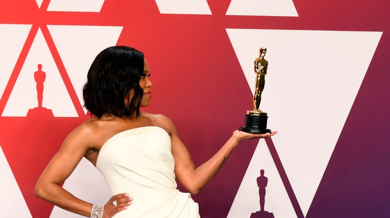 "Regina King, winner of Best Supporting Actress for ""If Beale Street Could Talk,"" poses in the press room during on February 24, 2019 in Hollywood, California."