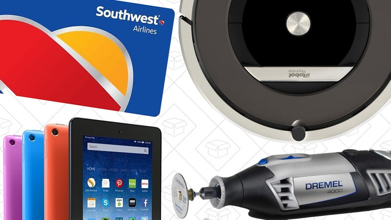 Illustration for article titled Today's Best Deals: $150 Off a Roomba, Dremel Starter Kit, $40 Tablet, and More