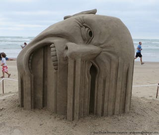 Illustration for article titled This remarkable sand sculpture will make your face melt
