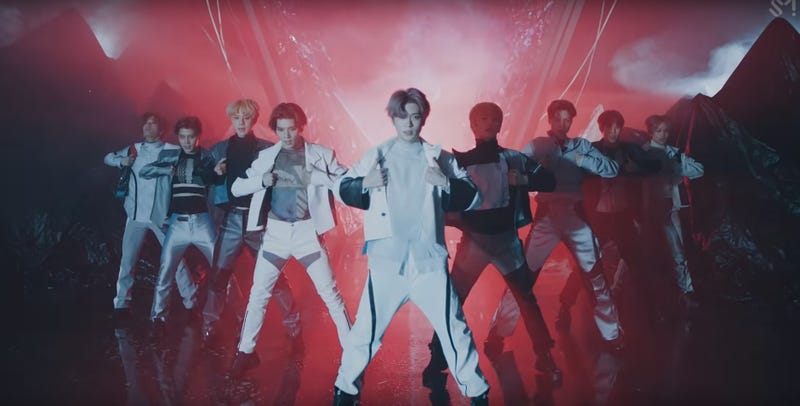 """Illustration for article titled NCT 127 is """"Superhuman"""" in their captivating new music video"""