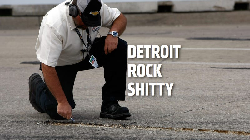 Illustration for article titled Detroit Grand Prix Stopped Because Of Detroit's Terrible Roads