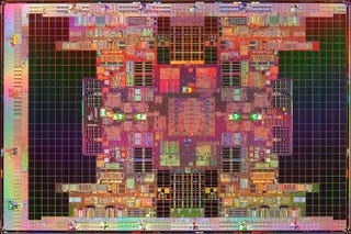 Illustration for article titled Intel Tukwila Is World's First 2 Billion Transistor Chip, Can Fight Godzilla Blindfolded