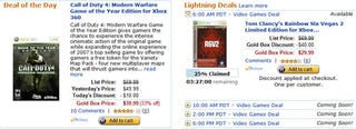 Illustration for article titled Dealzmodo: Cheap Games on Amazon Gold Box