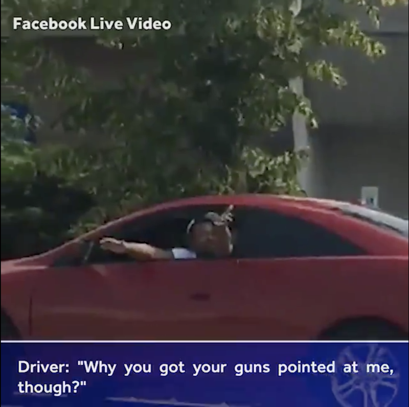 Illustration for article titled 'Why You Got Your Guns Pointed at Me Though?' 'Because You're Not White': Viral Traffic Stop Video Raises Debate Over Racist Comment