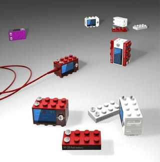 Illustration for article titled Lego-Inspired MP3 Player Concept For Tunes, Building Forts