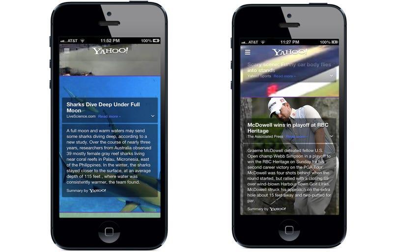 Illustration for article titled Yahoo estrena nueva app en iOS que integra la recién comprada Summly
