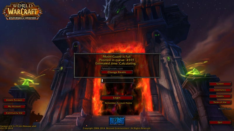 Illustration for article titled WoW Subreddit Taken Down To Protest Login Problems [Update]