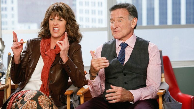 Illustration for article titled Pam Dawber on her reunion with Robin Williams 32 years after Mork & Mindy