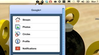 Illustration for article titled Tab for Google+ Adds Google+ Updates and Notifications to the Mac Menu Bar