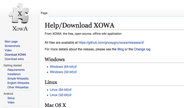 Xowa makes it easy to download wikipedia for offline reading.
