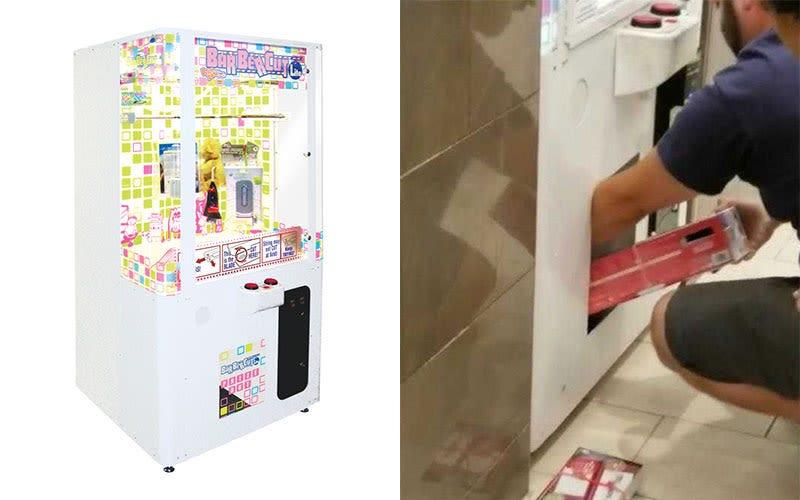 Illustration for article titled Un padre mete a su hijo en el interior una máquina de premios para robar varias consolas de Nintendo