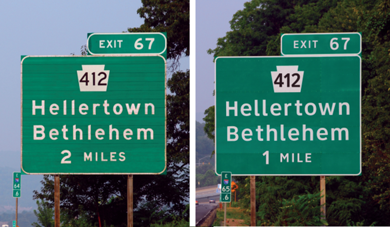 Illustration for article titled Decade Long Federal Test To Replace Highway Sign Font Made Legibility Worse