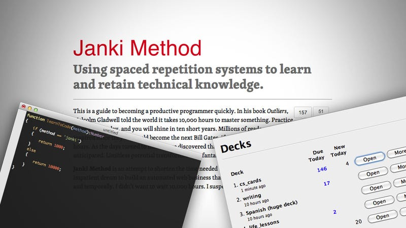 Illustration for article titled The Janki Method Shortens the Time It'll Take You to Learn to Code