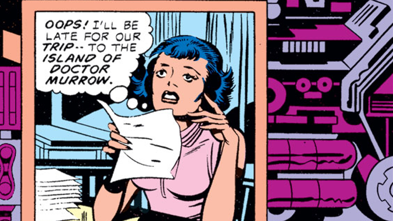 Steinberg as she appeared in Marvel What If #11. Art by Jack Kirby.