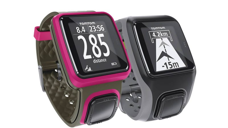 Illustration for article titled TomTom's New GPS Watches Are Easily Controlled With a Large Cyclops-Like Button