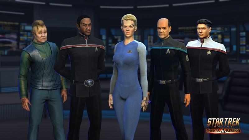 Illustration for article titled Star Trek Online Gets The Voyager Crew Back Together