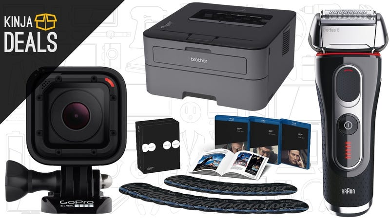 Illustration for article titled Today's Best Deals: $40 Laser Printer, James Bond, Tiny GoPro, and More