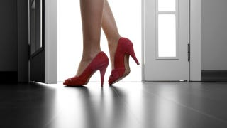 Illustration for article titled Men March In Heels For Anti-Rape Message