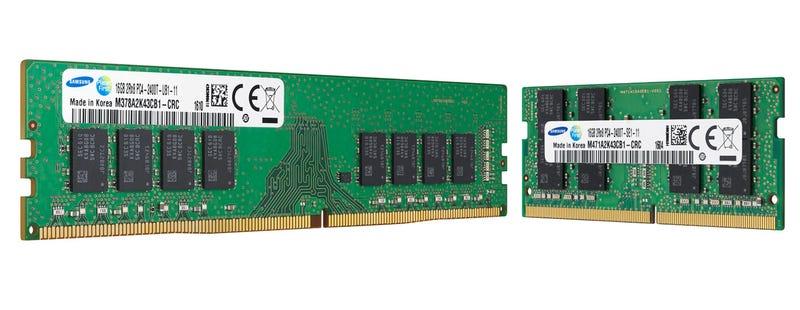 Illustration for article titled Más velocidad en espacio mínimo: así son las nuevas memorias RAM de 10 nanómetros de Samsung