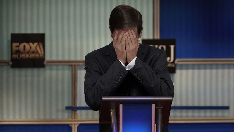 Illustration for article titled Body Language Experts Offer Insight Into Meaning Of Marco Rubio Loudly Sobbing Throughout Debate