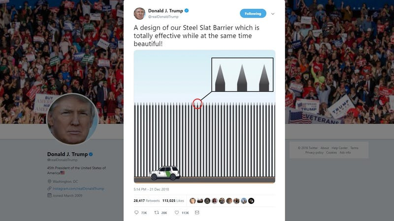 Illustration for article titled Trump: What If the Border Wall Was Actually a Row of Pointy Sticks