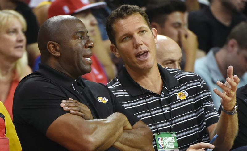 Illustration for article titled Report: Magic Johnson Is Already Mad At Luke Walton For No Good Reason
