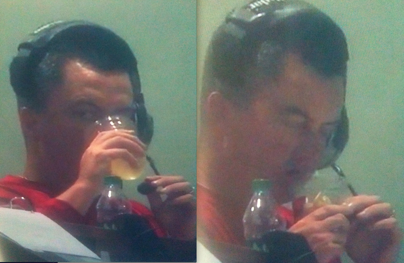 Illustration for article titled Is This Wisconsin OC Paul Chryst Drinking And Dipping His Way Through A 51 Point Outburst?