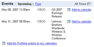 Illustration for article titled Add Google Finance events to Google Calendar