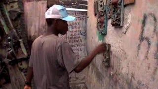 Haitian artist Alex Louis