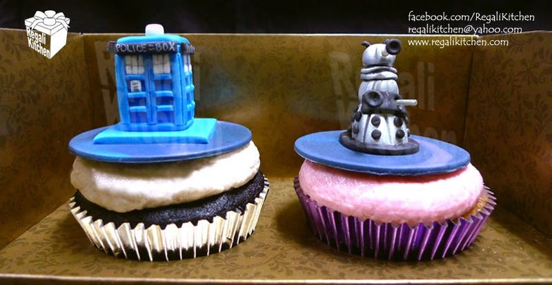 Illustration for article titled Behold — The Perfect Doctor Who Cupcakes