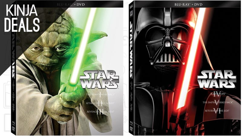 Illustration for article titled Today's Best Media Deals: Star Wars Trilogies, Team America, and More