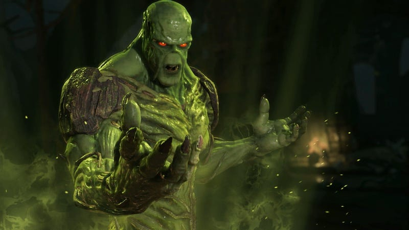 Swamp Thing as he appears in Injustice 2.