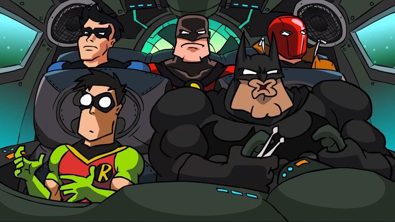 Illustration for article titled New animation has Batman rocking out to Dethklok as he fights The Little Mermaid