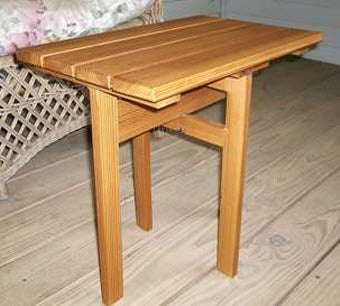 Turn A Plank Into A Folding Table