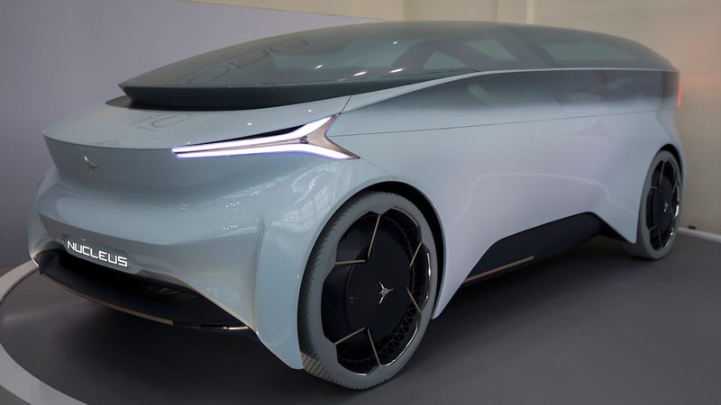 The Icona Nucleus autonomous concept car is shown at the auto trade show, AutoMobility LA, at the Los Angeles Convention Center on November 29, 2018 in Los Angeles, California.