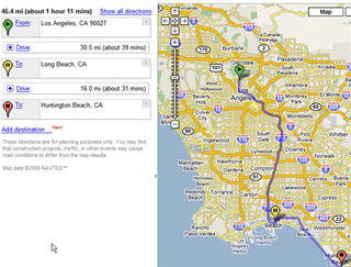 Google Maps multiple destinations on