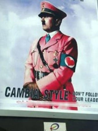 Illustration for article titled Italians Angered By Ad Featuring Hitler In Pink