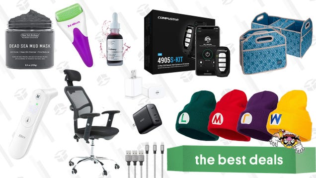 Sunday s Best Deals: Compustar 2-Way Remote Start System, USB C Fast Chargers, Trunk Organizer & Cooler Combos, Office Rolling Chair, Skincare Tools & Products, Infrared Thermometer, and More