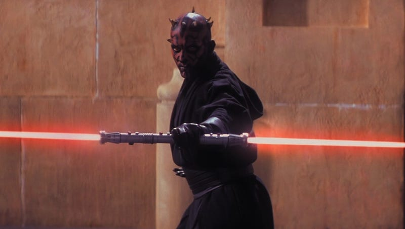 Probably the most memorable moment of the first trailer for The Phantom Menace.