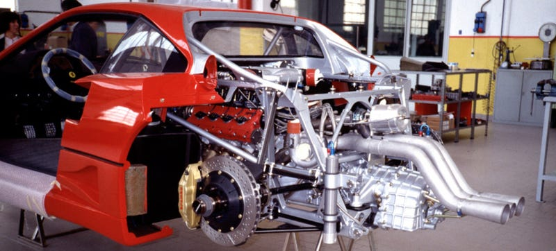 This Is What The Guts Of A Ferrari F40 Look Like