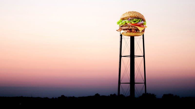 Illustration for article titled Hamburg, New York will finally paint its water tower to resemble a hamburger