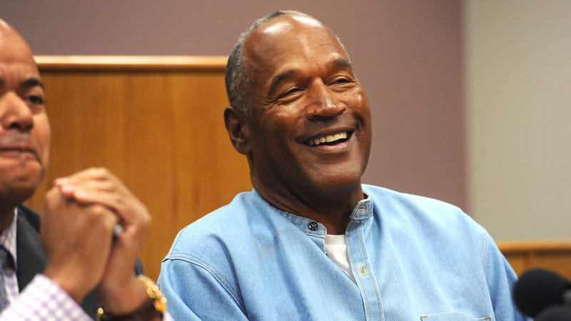 O.J. Simpson at hearing where he was granted parole in 2017