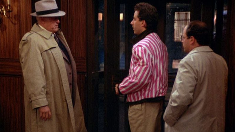 """Illustration for article titled Seinfeld: """"The Baby Shower""""/""""The Jacket""""/""""The Chinese Restaurant"""""""