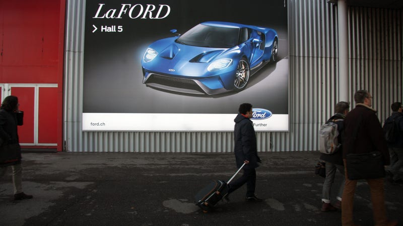 "Illustration for article titled Did Ferrari Make Ford Take Down Their 'LaFord"" GT Poster?"
