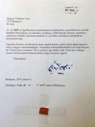 Illustration for article titled Pompás levélben mondta le a Telekom-előfizetését